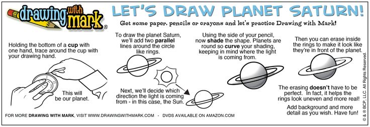 Learn how to draw planet Saturn!