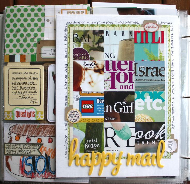 brilliant! // Jenni Hufford - I love her take on all the mail. I've been wanting to do this with all the catalogs we get, but wasn't sure how to incorporate it all!: Crafts Ideas, Good Ideas, Art Journals, Birthday Cards, Flowing Magazines, Scrapbookingproject Life, Journals Life, Great Ideas, Projects Life