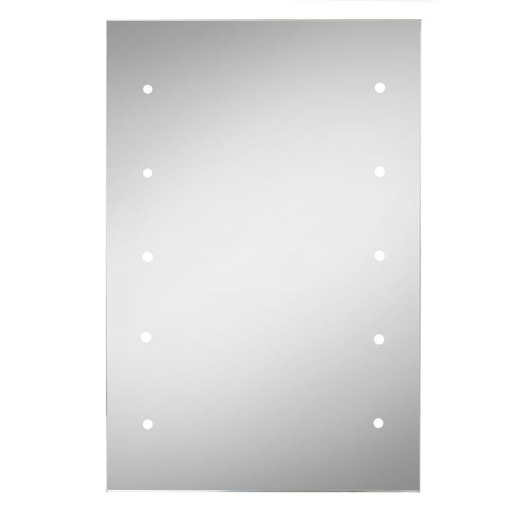 Lumino Lesto Illuminated Bathroom Rectangular Battery Powered Mirror (W)30cm (H)45cm | Departments | DIY at B&Q