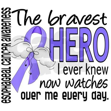 Image result for the bravest hero I ever knew now watches over me everyday esophageal cancer