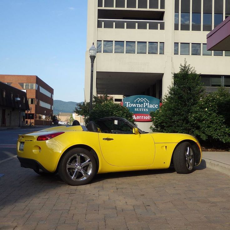 Customer submission: any solstice fans out there?  #protecautocare #engineflush #carrepair #customer #car #pontiac #solstice #yellow #convertible #droptop #topless #cruising #nofilter #followus