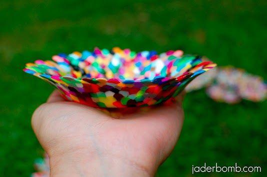 Schale aus Bügelperlen machen