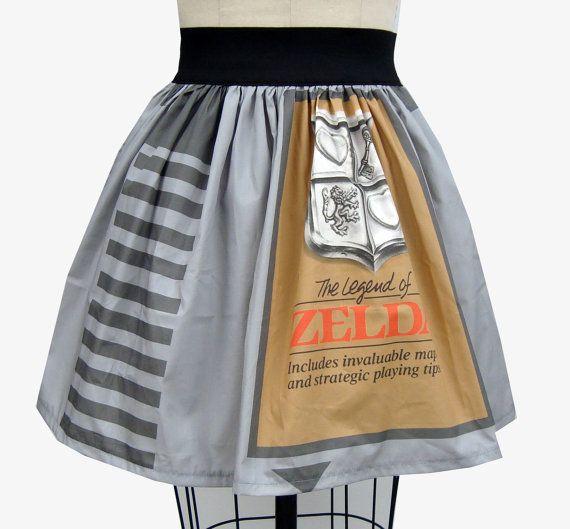 Retro Game Legend Of Zelda Full Skirt. So cute!
