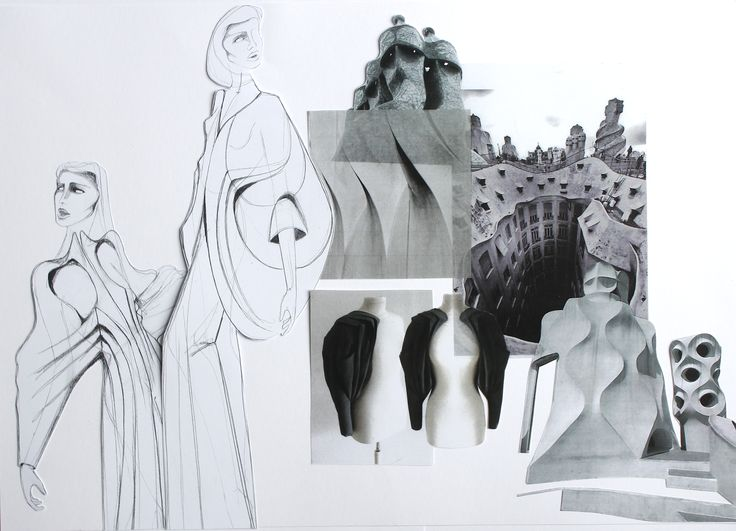 Fashion Sketchbook - fashion drawings, development & design progression; fashion student portfolio // Jegor Pister