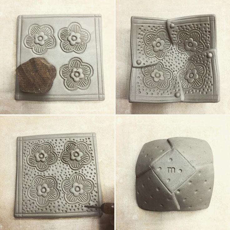 "216 Likes, 5 Comments - Merle Rosenbaum Lambeth (@clayfolder) on Instagram: ""Texture, cut, fold, repeat all day long. #softslab #slabbuilt #foldedbowl #potteryprocess…"""
