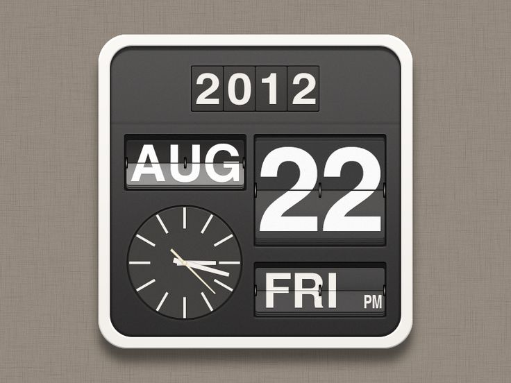 It's an icon that can update to reflect app state! - Flip clock Icon by Brady Sammons