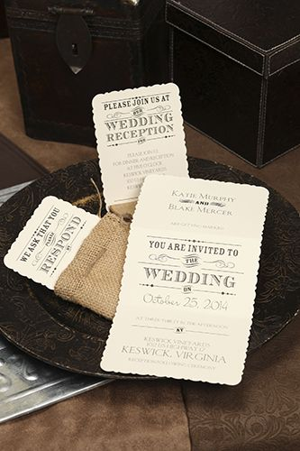 Award Winner   Rustic Touch Invitation (RHN4227AO   20Thirteen) # CarlsonCraft