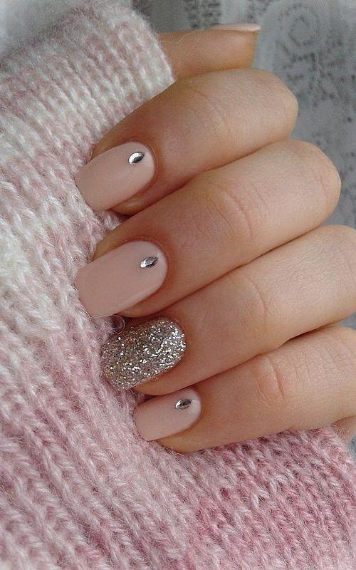 Simple Wedding Nails