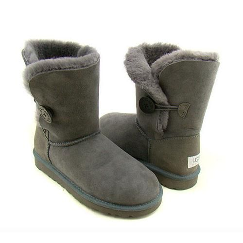 Womens Boots UGG Bailey Button Grey