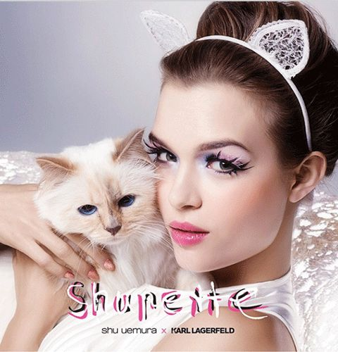 Choupette Lagerfeld's Shu Uemura Makeup Collection Is Available Now! from InStyle.com