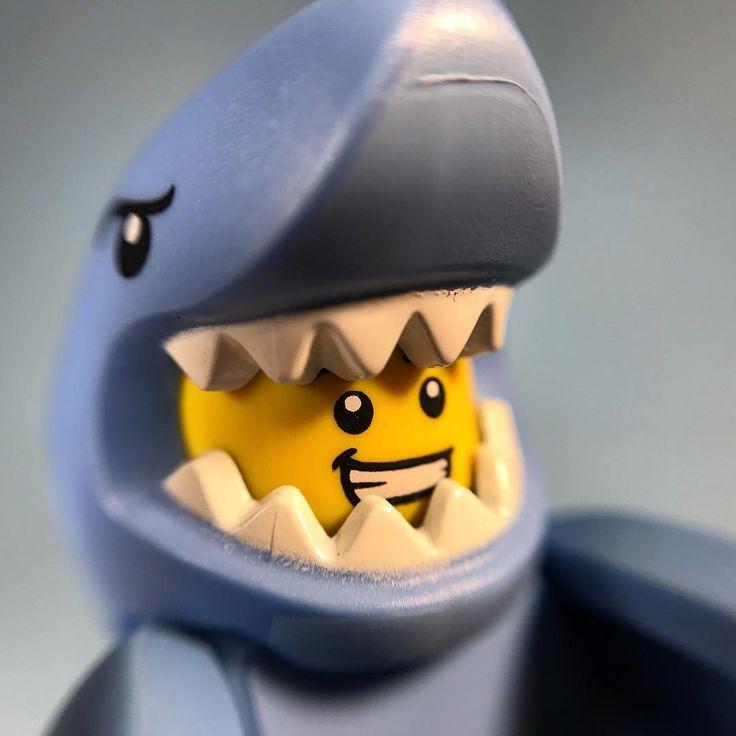 lego shark suit guy #minifiguremacros #lego #macrophotography #legophotography