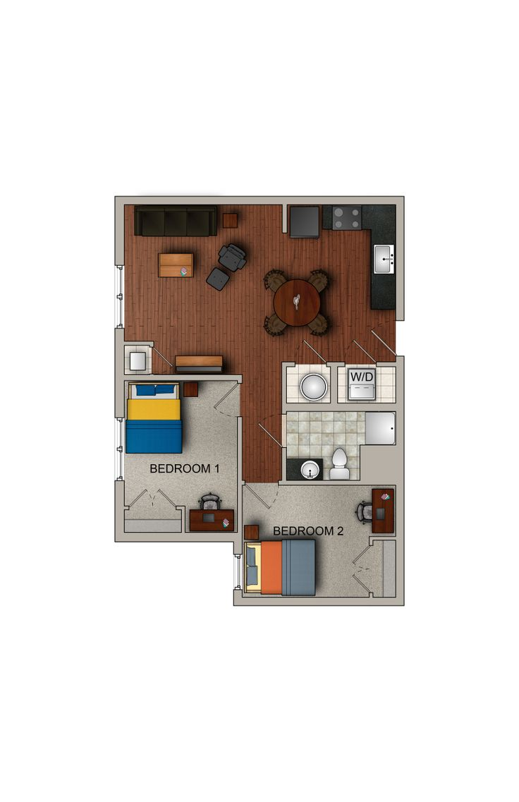 2 Bedroom 1 Bath Apartment WVU StudentLiving
