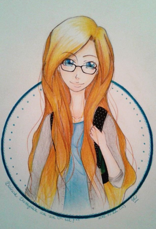 w.i.p. Portrait of my frieds, Bia ^^ ouo