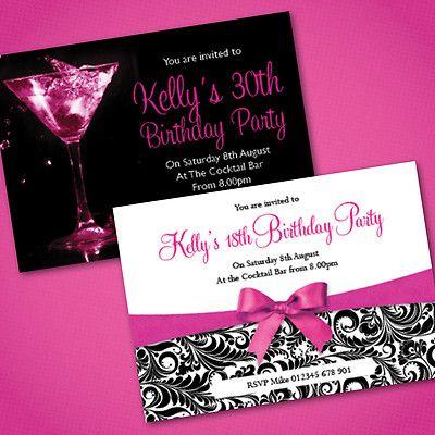 16 best 40th birthday shenanigans images on pinterest birthdays etsy40thbirthdayinvitation personalised birthday party invitations 18th 21st 30th filmwisefo