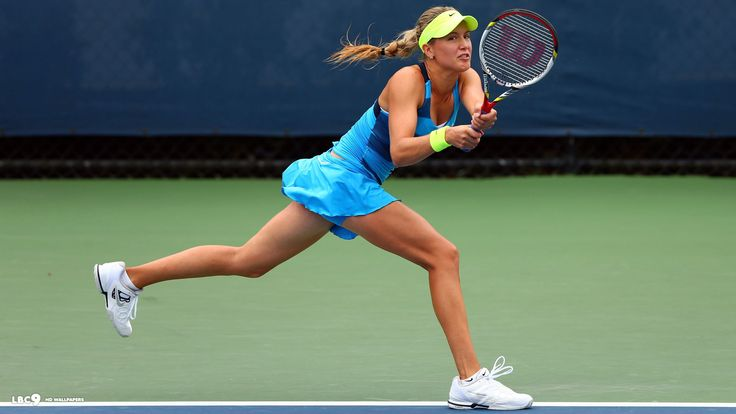 Canadian Tennis player Eugenie Bouchard. My new favorite tennis player. #tennis #canada http://www.pinterest.com/TheHitman14/sports-usa-world/
