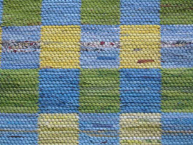 two block rag rug * Pattern included