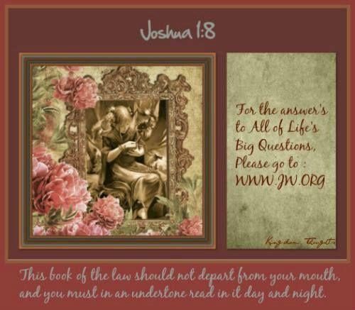 2/24/15 Daily Text Joshua 1:8 www.jw.org