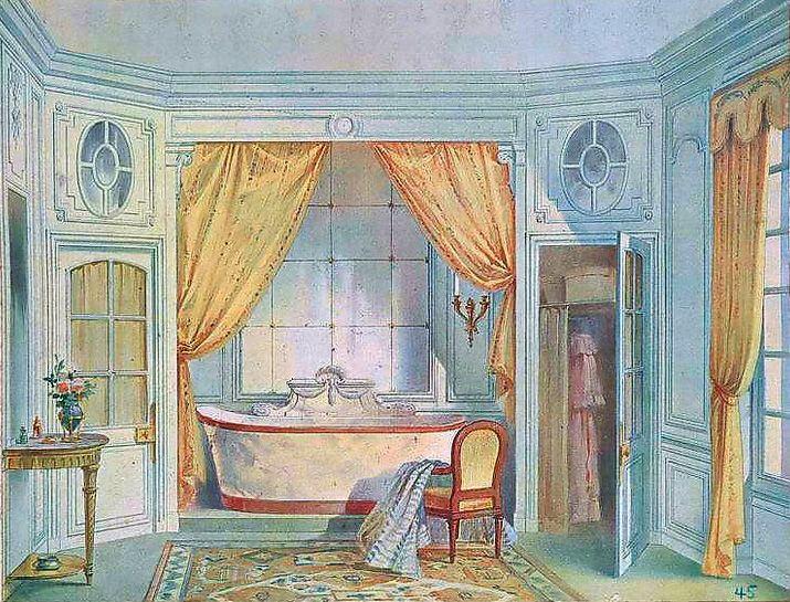 Les 84 meilleures images propos de georges r mon for Salle de bain louis xv