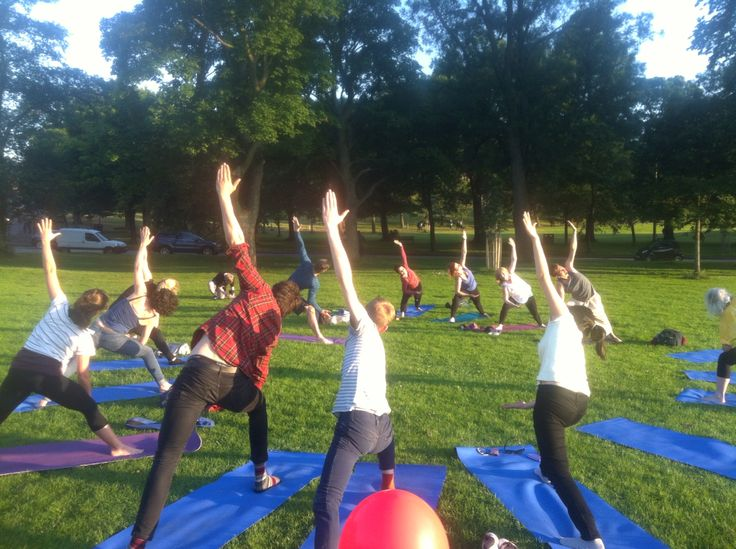 Donation based Yoga at Colour The Sky in The Meadows, Edinburgh.