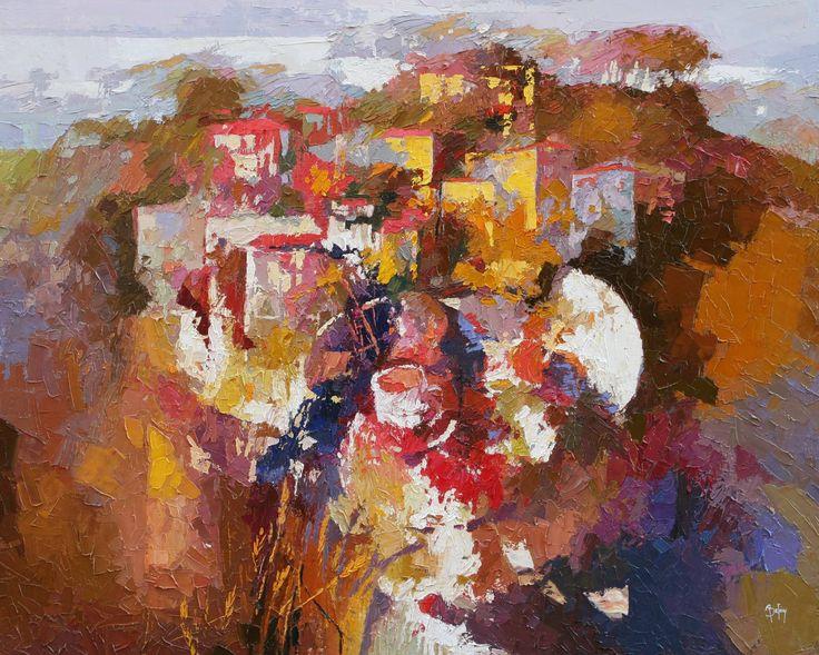 "Saatchi Art Artist: Alex Bertaina; Oil 2007 Painting ""A l ombra des bles"""