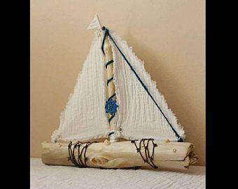 4 wunderschöne Driftwood Beach Decor Segelboote antike Spitze