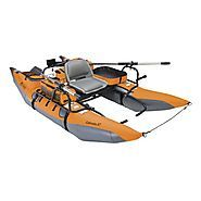 Classic Accessories Colorado XT Inflatable Pontoon Boat With Transport Wheel & Motor Mount, Pumpkin