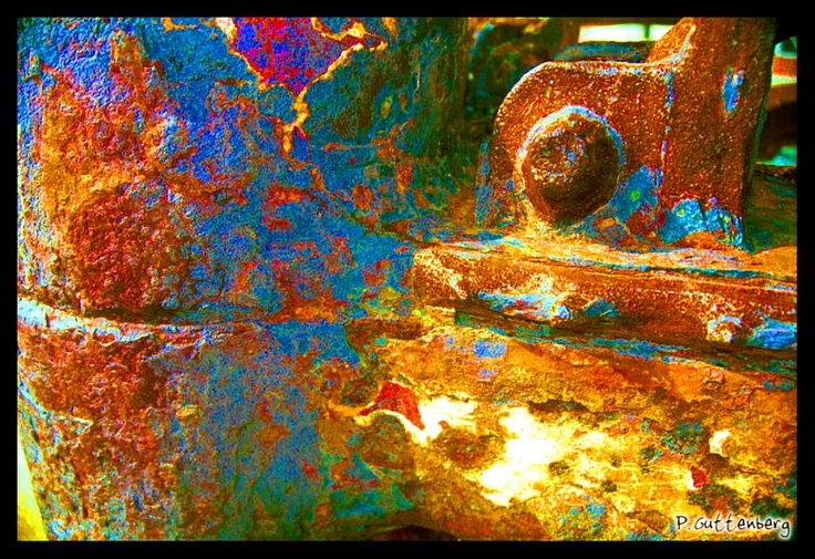 Colorful RustTime Work, Rust Lust, Art Nature, Texture Colors, Colors Rust, Rustic Relic, Painting, Beautiful Decay, Art Favorite