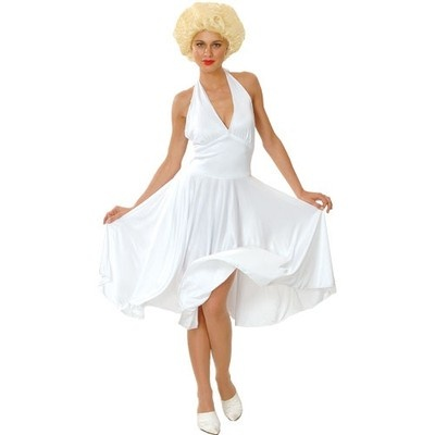 Marilyn Monroe Plus Size XL 22 24 Hollywood Celebrity Fancy White Dress Costume | eBay #eBay #Halloween