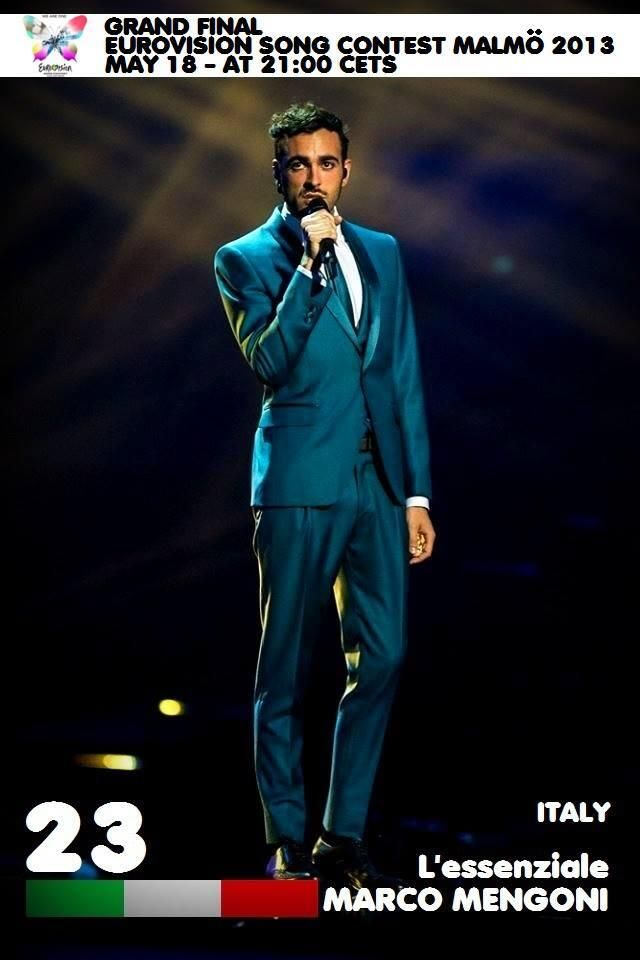 Vote Marco Mengoni at the Grand Final of Eurovision Song Contest Malmo 2013! May 18 at 21:00 CETS  http://youtu.be/unRjK82bDLw