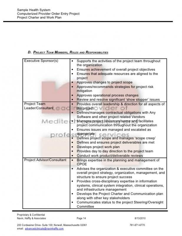 Project Charter Sample Project Charter How To Plan Work Plans