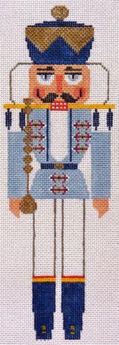 Damarj The Blue King Vintage Handpainted Needlepoint Canvas s Portra Guide   eBay