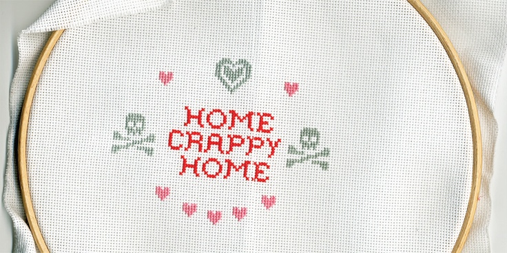 home: Crossstitch, Illustrations Job, Crappy, Krisatom, Homes