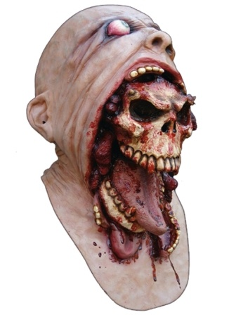 Blurp Charlie is one of our best sellers in the head and neck mask range. Shine a bright light on him and the blood looks real and wet.