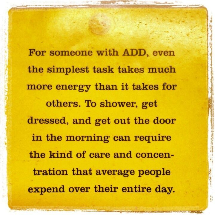 The reality of ADD. Yes!!! - However, it doesn't need to continue to be that way.