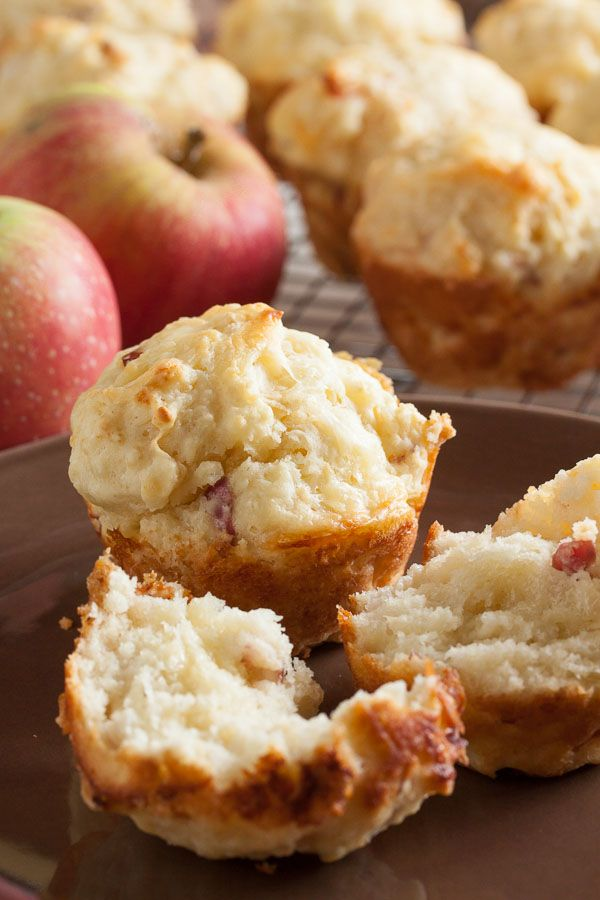 These Apple Cheddar Muffins are both sweet and savoury. This combination of cheese and apple is really satisfying, especially on a cold fall morning.
