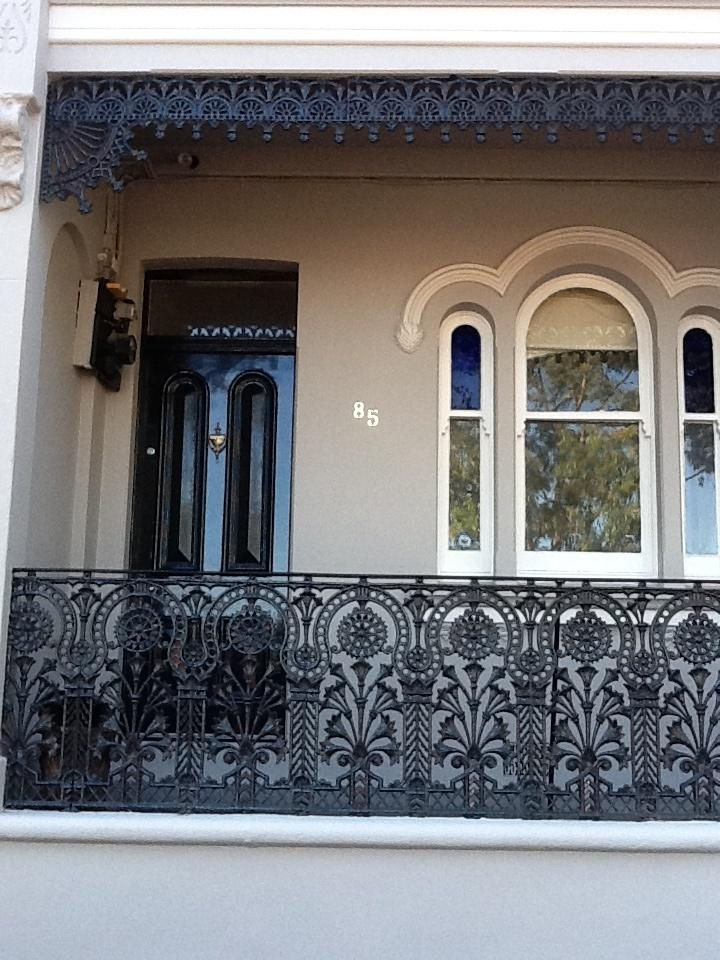 Balmain Terrace circa 1885 showing lattice detail.