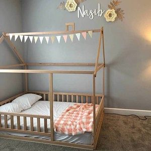 Painted Toddler House Bed With Drawer Or Trundle Montessori Bed In 2020