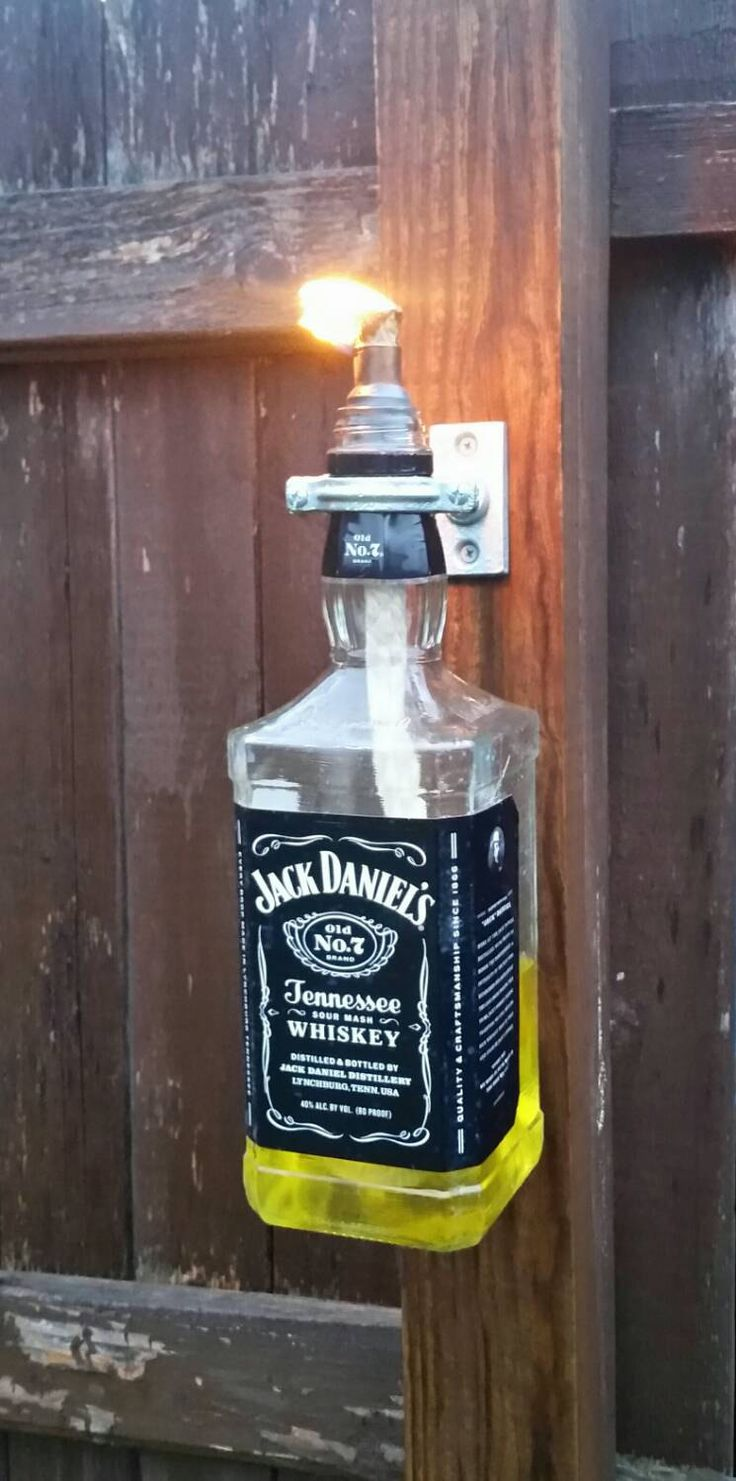 Jack Daniels Tiki Torch, Patio Decor, Patio Lighting, Fathers Day, Mens  Gifts, Housewarming Gift, Rustic Lighting, Industrial Lighting