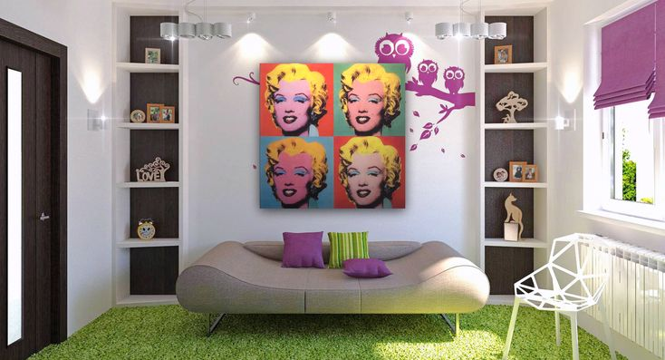 Decorar según el estilo Pop Art casita Pinterest Room - einrichtung stil pop art
