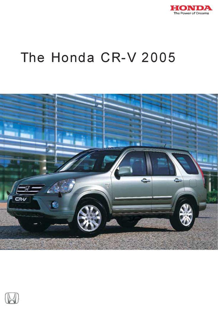 Honda CR-V Mk2 UK Brochure 2005