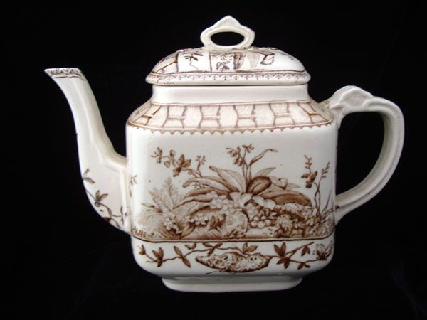 Brown Aesthetic Movement Tropical Teapot ~ BRAZIL 1885