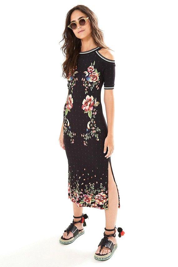 a225fec8d vestido rib floral tukanas   farm   Roupas, Coleção primavera e ...