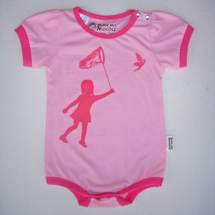 """I just adore our little summer rompers, this one is our """"Fairy on the loose design"""". So cute!"""