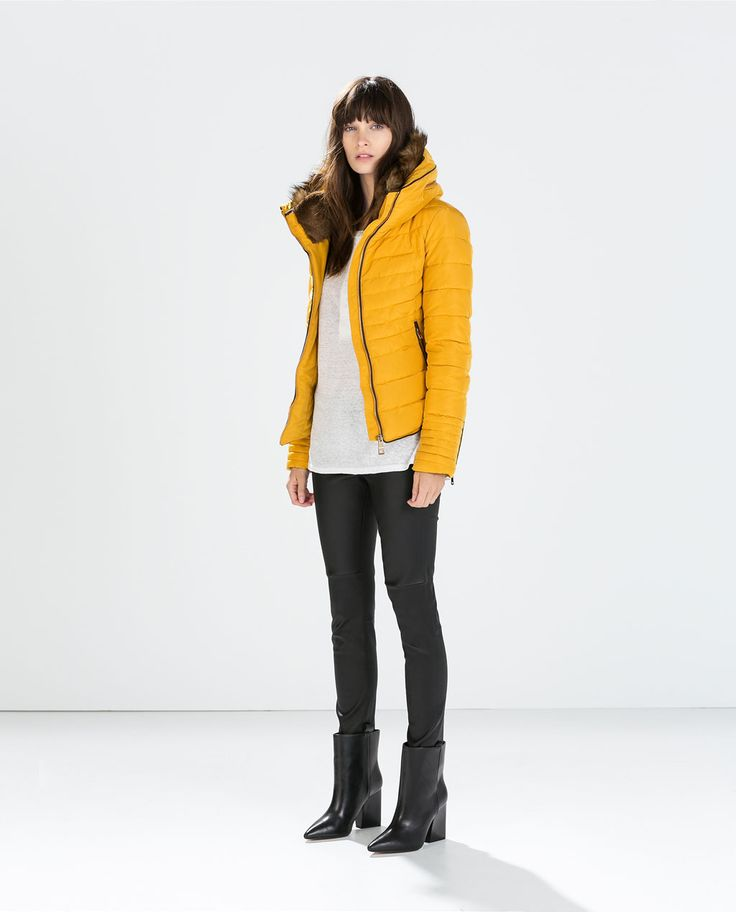 Zara can do no wrong! Who wouldn't want this mustard puffer? #currentlyobsessed #fashion
