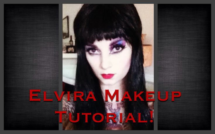 Elvira Makeup Tutorial for Halloween by CHERRY DOLLFACE