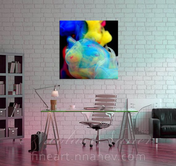 Lacrima -Abstract Metal Print,Abstract Canvas Art,Giclee Abstract,Contemporary  Print , Large Wall Art, Colorful Abstract,Square print