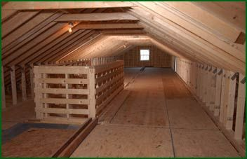 Attic Storage Ideas Home Featuring A 7 12 Roof Pitch