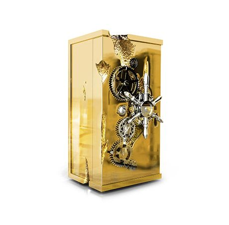 Boca do Lobo | Influenced by the California Gold Rush, the Millionaire Luxury Safe is designed to deliver an unmatched experience to your luxury home. #luxuryfurniture #goldbox #safebox #luxurysafebox Find more here: http://www.bocadolobo.com/en/private-collection/luxury-safes/millionaire/