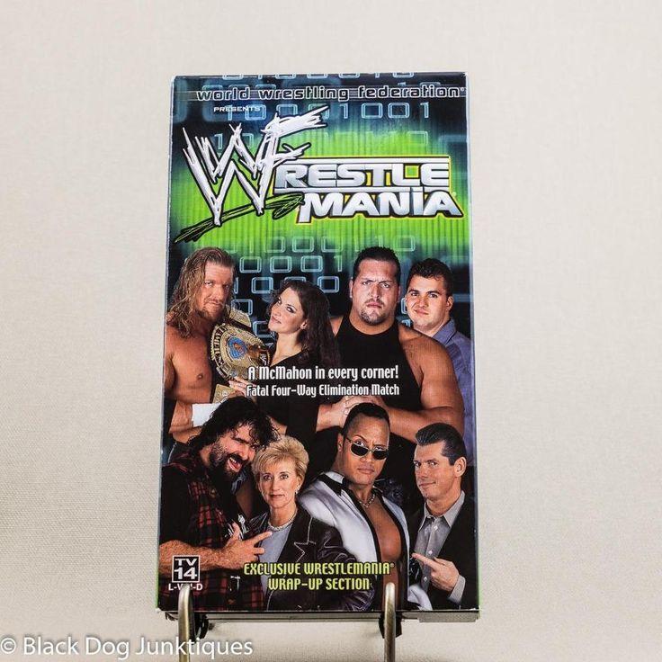 WWF WrestleMania VHS 2000 Chyna Mick Foley Tripple H Big Show McMahon WWE