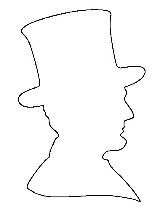 Abraham Lincoln Coloring Pages Pdf : Abraham lincoln pattern use the printable outline for